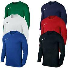 Nike Boys T Shirt Long Sleeve Kids Crew Top Park VII Football Training Tops