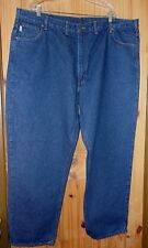 Carhartt NWOT Relaxed Fit Indigo Wash Jeans Made in USA, 48 x 32.  J352