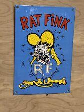 New ListingRat Fink Hot Rod Gas Oil Racing Heavy Porcelain Sign
