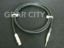 chc02 2.5m 8ft Headphone Silver Cable 3.5mm Stereo to Mini XLR Plug AKG iPhone