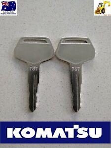 2 x Komatsu  787 Excavator Digger Plant Keys FREE POSTAGE