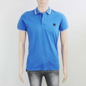 Bench Mens Size S M Blue Short Sleeve Polo Shirt Top
