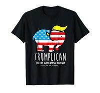 Black Trumplican Keep America Great T-shirt Men's S-6XL  US 100% Cotton