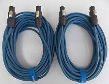 15M caisson haut-parleur câble SPEAKON compatible 2 pièces par 15m 2x1, 5qmm