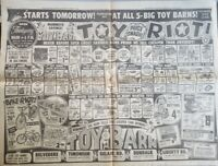 1963 Toy Barn Toy Store Vintage Toys Baltimore Newspaper Full Page Print Ad
