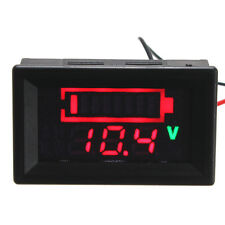 12V Acid Lead Batteria Stato Indicatore Capacita' Dual Display LED Tester Meter