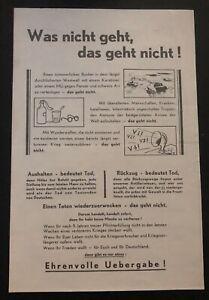 Original USA WW2 Surrender Leaflet Dropped on German Troops We Ask For Informati