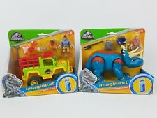 Fisher-Price Imaginext Jurassic World Dr. Sattler & Triceratops Grant 4x4 lot