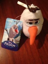 DISNEY FROZEN OLAF ZIPPERED PLUSH BACKPACK CLIP NWT New With Tag