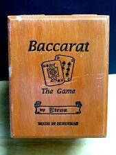 "BACCARAT WOOD CIGAR BOX ""THE GAME ROTHSCHILD"" -  4 1/2"" X 5 3/4"" X 4 1/4"""