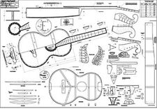 "Austro-German Martin Guitar Full-Scale 36"" x 52"" Plan / lutherie /guitar making"