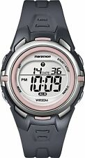 Ladies Timex Marathon Indiglo Digital Alarm Gray Rubber Sports Watch T5K360