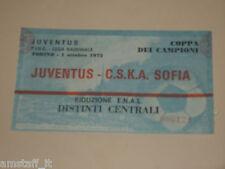JUVENTUS CSKA SOFIA BULGARIA BIGLIETTO TICKET 1975 1976 EUROPEAN CUP CHAMPIONS
