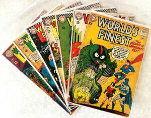 World's Finest #112 #143 #158 #163 #167 #169 #173 Seven Issue Discount Run!