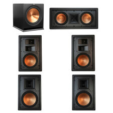 Klipsch 5.1 In-Wall System with with 2 R-5800-W II In-Wall Speakers, 1 Klipsch R