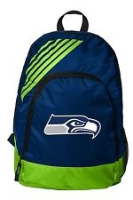 Seattle Seahawks BackPack Back Pack Book Sports Gym School Bag Border Stripe