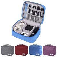1Pc Multi-grid Storage Bag USB Charger Data Cable Storage Bag Cable Travel bags