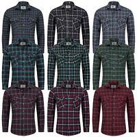 Rock Creek Herrenhemd Flanellhemd Holzfällerhemd Herren Hemden Kentkragen M64