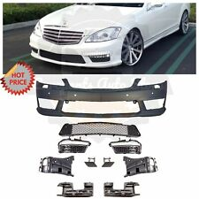 Mercedes Benz S63 Amg Facelift Front Bumper For 2007-2012 W221 S Class With Pdc (Fits: Mercedes-Benz)