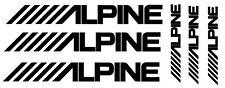 6 pegatinas de vinilo ALPINE  para COCHE ,no 283