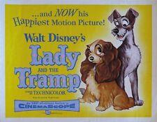 Lady & the tramp vintage Disney cult movie cartoon poster print 13