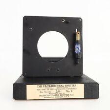 - Packard Ideal Shutter No. 6 2 1/2 inch Opening