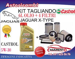 KIT TAGLIANDO JAGUAR X-TYPE 2.2 DIESEL 114KW- 4 FILTRI + 6L OLIO CASTROL 5W30