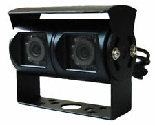 Twin Black Rear View or Reversing Camera with night vision for Motorhomes