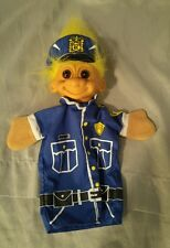 """Russ Treasure Troll Police Officer Cop Toy Hand Puppet 10"""" Long Vintage"""