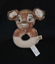 Doudou peluche faon bambi DISNEY NICOTOY KIABI beige brun crème 14 cm NEUF