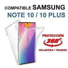 Funda doble 360º Samsung Galaxy Note 10 y Note 10+ Pro alta calidad TPU gel y PC