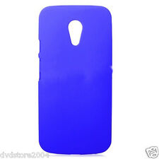 Custodia BACK Cover HARD MATTE BLU per Motorola Moto G 2 (2014) Case Rigida