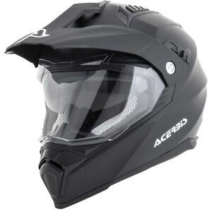 Acerbis Mx Flip FS-606 Black Dual Sport Motocross Dirt Bike Adventure