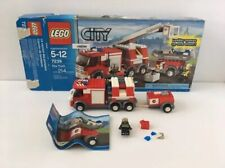 LEGO City 7239 Fire Truck Set Incomplete W/ Box + 1 Minifigure + Book #2 only