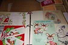 Lot 2 Vintage Scrapbooks Greeting Cards Birthdays Valentines Lot 141 One is Menu