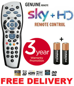 NEW SKY PLUS HD BOX REMOTE CONTROL 2021 REV 9f REPLACEMENT + BATTERIES