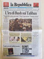 LA REPUBBLICA - 20 SETTEMBRE 2001 - L'IRA DI BUSH SUI TALIBAN - 11/9