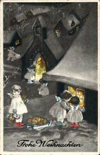 67469 Weihnachten - kleine Engel vorm Fenster