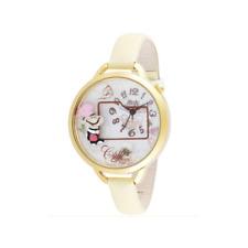 Orologio MINI WATCH 3D ref. MN986 mod. COFFEE donna in pelle bianco perla