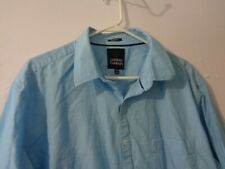 Indian Terrain Mens Long Sleeve Buttoned Shirt 100% Cotton Light Blue