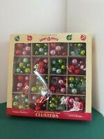 16 Radko SMALL CLUSTERS Shiny Brite Vtg Box Ornaments CHRISTMAS NIB FEATHER TREE