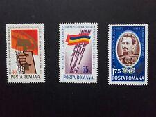 1973 - Romania - Anniversary III , Mi.3123 - 3125  MNH