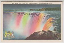 Canada postcard - Night View, Horseshoe Falls of Niagara from Canada (A183)
