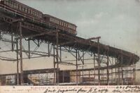 Postcard Elevated Railroad Curve 110th Street New York NY 1906