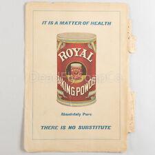 1905 Royal Baking Powder, Libby's Food Products Vintage Print Ad Art Original
