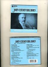 JOHN CERMINARO, HORN SONATAS-BEETHOVEN/HINDEMITH/HEIDEN-CRYSTAL REC- 1997-NR FN
