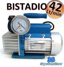 3S POMPA VUOTO BISTADIO 42 LT min CON ELETTROVALVOLA VACUOMETRO CONDIZIONAMENTO