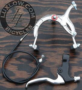 Silver Cruiser Bike Front Brake Lever Cable Caliper BMX Vintage Schwinn Bicycle