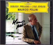Maurizio POLLINI Signiert DEBUSSY Preludes Book 1 L'Isle Joyeuse DG CD Prelude