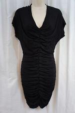 "B44 Dressed Dress Sz L Black ""Impact Zone Dress"" Rouched Rayon Jersey Cocktail"